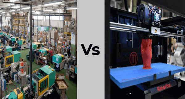 Traditional manufacturing vs 3d printing